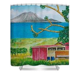 St. Eustatis From St. Kitts Shower Curtain by Frank Hunter