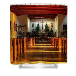 St Francis De Paula Mission Tularosa Shower Curtain by Bob Christopher