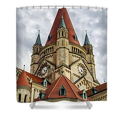St. Francis Of Assisi Church In Vienna Shower Curtain