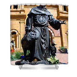 St Francis Of Assisi - Santa Fe Shower Curtain by Dany Lison