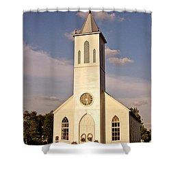 St. Gabriel The Archangel Catholic Church Shower Curtain by Scott Pellegrin