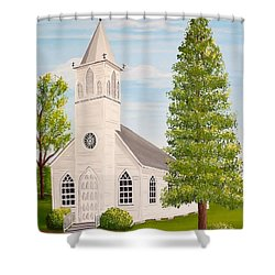 St. Gabriel The Archangel Roman Catholic Church Shower Curtain