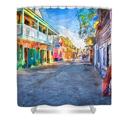 St George Street St Augustine Florida Painted Shower Curtain by Rich Franco