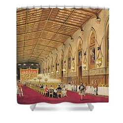 St Georges Hall At Windsor Castle Shower Curtain by James Baker Pyne