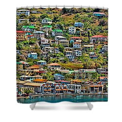 St. Georges Harbor Grenada Shower Curtain