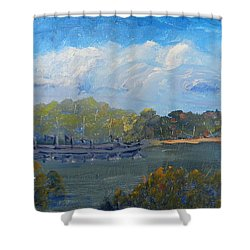 St Georges River Near Como Marina  Shower Curtain