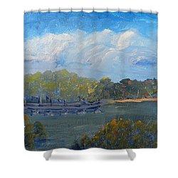 St Georges River Near Como Marina  Shower Curtain