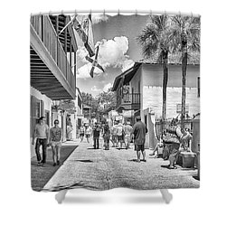 Shower Curtain featuring the photograph St. Geroge Street by Howard Salmon