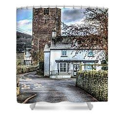 St Gwendolines Church Talgarth Shower Curtain by Steve Purnell
