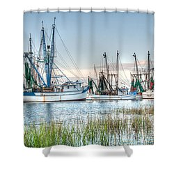 St. Helena Island Shrimp Boats Shower Curtain