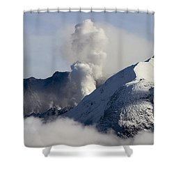 St Helens Rumble Shower Curtain by Wes and Dotty Weber