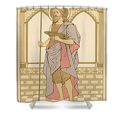 St John The Baptist Shower Curtain by English School