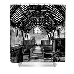 St John Ysbyty Ifan Shower Curtain by Adrian Evans