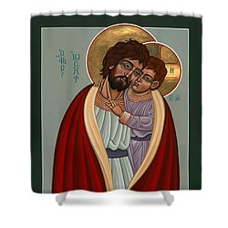 St. Joseph And The Holy Child 239 Shower Curtain by William Hart McNichols