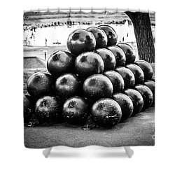 St. Joseph Michigan Cannon Balls Picture Shower Curtain by Paul Velgos