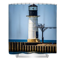 St. Joseph Outer Lighthouse Photo Shower Curtain by Paul Velgos
