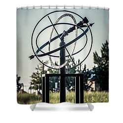 St. Joseph Whirlpool Compass Fountain Water Cannon Shower Curtain by Paul Velgos