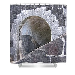 St. Kitts  - Brimstone Hill Fortress Shower Curtain by HEVi FineArt