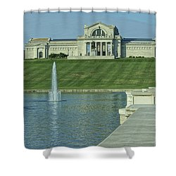 St Louis Art Museum And Grand Basin Shower Curtain