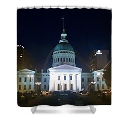 Shower Curtain featuring the photograph St. Louis At Night by Chris Tarpening