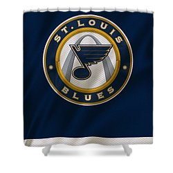 St Louis Blues Uniform Shower Curtain