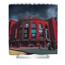 St. Louis Busch Stadium Cardinals 9162 Art Shower Curtain