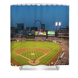 St. Louis Cardinals Busch Stadium Pano 5 Shower Curtain