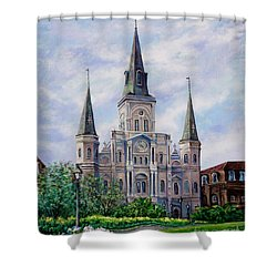 St. Louis Cathedral Shower Curtain by Dianne Parks