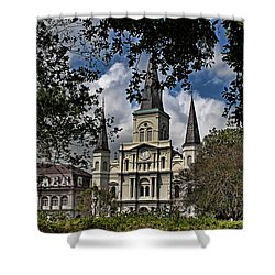 St. Louis Cathedral Shower Curtain by Judy Vincent