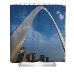 St. Louis Gateway Arch Sunrise Shower Curtain