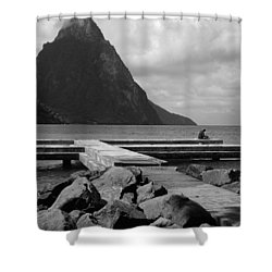 St Lucia Petite Piton 5 Shower Curtain