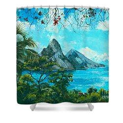 St. Lucia - W. Indies Shower Curtain by Elisabeta Hermann