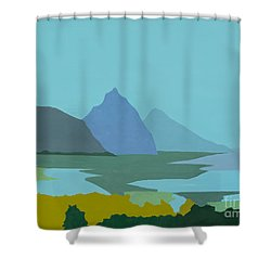 St. Lucia - W. Indies II Shower Curtain by Elisabeta Hermann