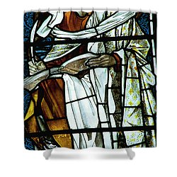 St Luke In Stained Glass Shower Curtain by Philip Ralley