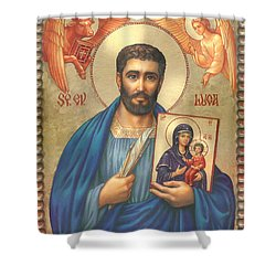 St. Luke Shower Curtain by Zorina Baldescu