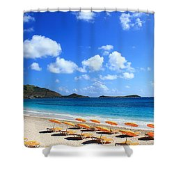 St. Maarten Calm Sea Shower Curtain by Catie Canetti