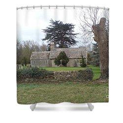 St Mary Church Ampney Shower Curtain by John Williams
