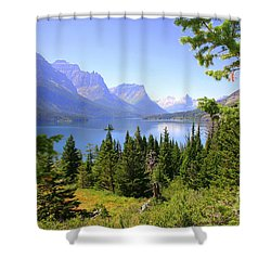 St. Mary Lake Shower Curtain