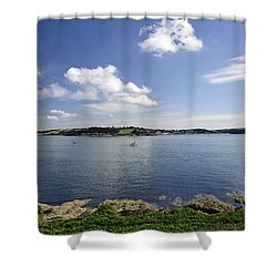 St Mawes From Pendennis Point Shower Curtain by Rod Johnson