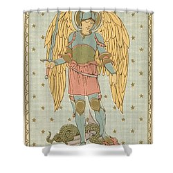 St Michael And All Angels By English School Shower Curtain by English School