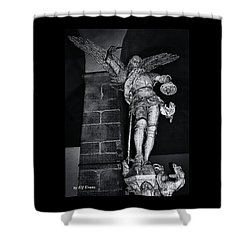 St. Michel Slaying The Dragon Shower Curtain