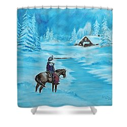St. Nicholas Shower Curtain by Patricia Olson