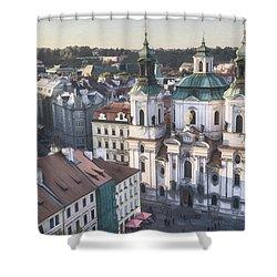 St Nicholas Prague Shower Curtain by Joan Carroll