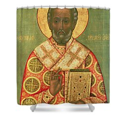 St. Nicholas Shower Curtain by Russian School
