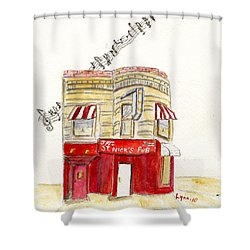 St. Nick's Jazz Pub Shower Curtain