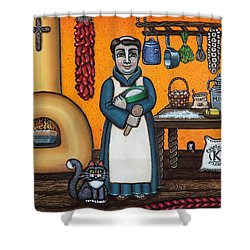 St. Pascual Making Bread Shower Curtain
