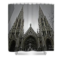 St. Patricks Cathedral  Shower Curtain by Angela Wright