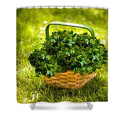St Patricks Day Shower Curtain by Bob and Nadine Johnston