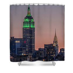 St Patrick's Day Postcard Shower Curtain