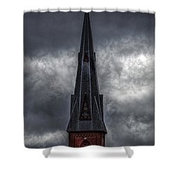 St. Patricks Spire  Shower Curtain by Bob Orsillo